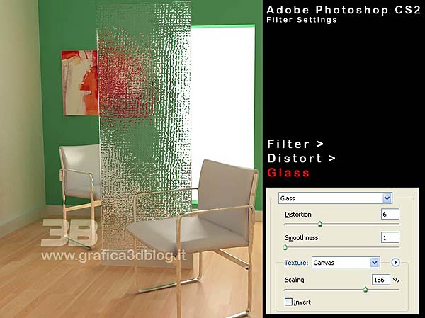 photoshop glass